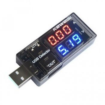 Dual Row USB Voltmeter Ammeter