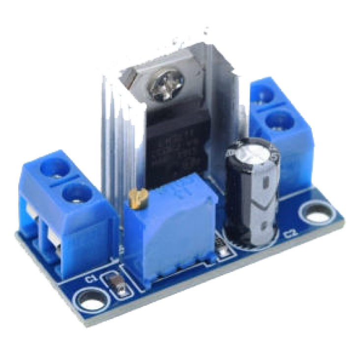 Adjustable voltage regulator LM317 DC-DC